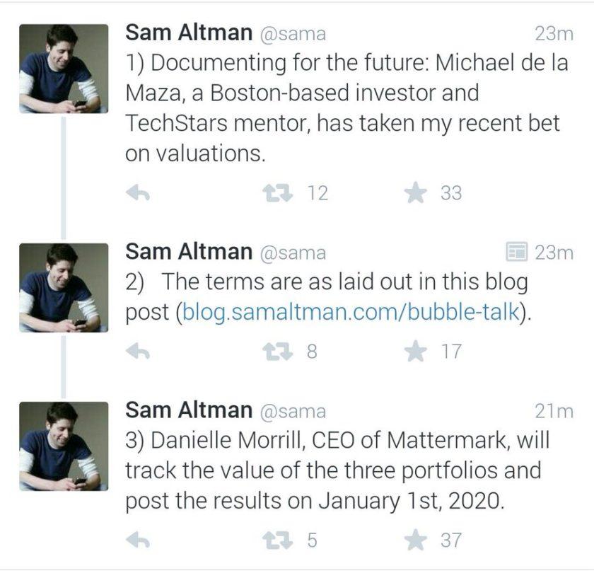 "Results of Sam Altman's 2015 ""Bubble Talk"" Bet"